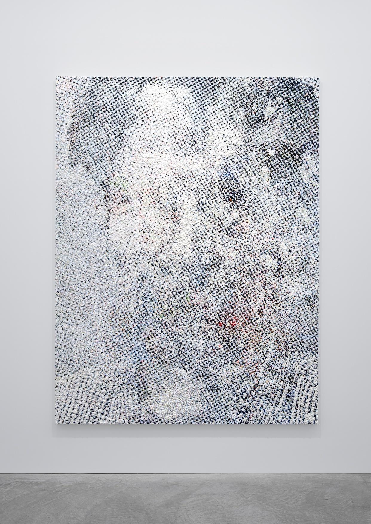 Neural Network_1 2017, oil on canvas, 215.0 × 163.0 cm ©Makoto Saito