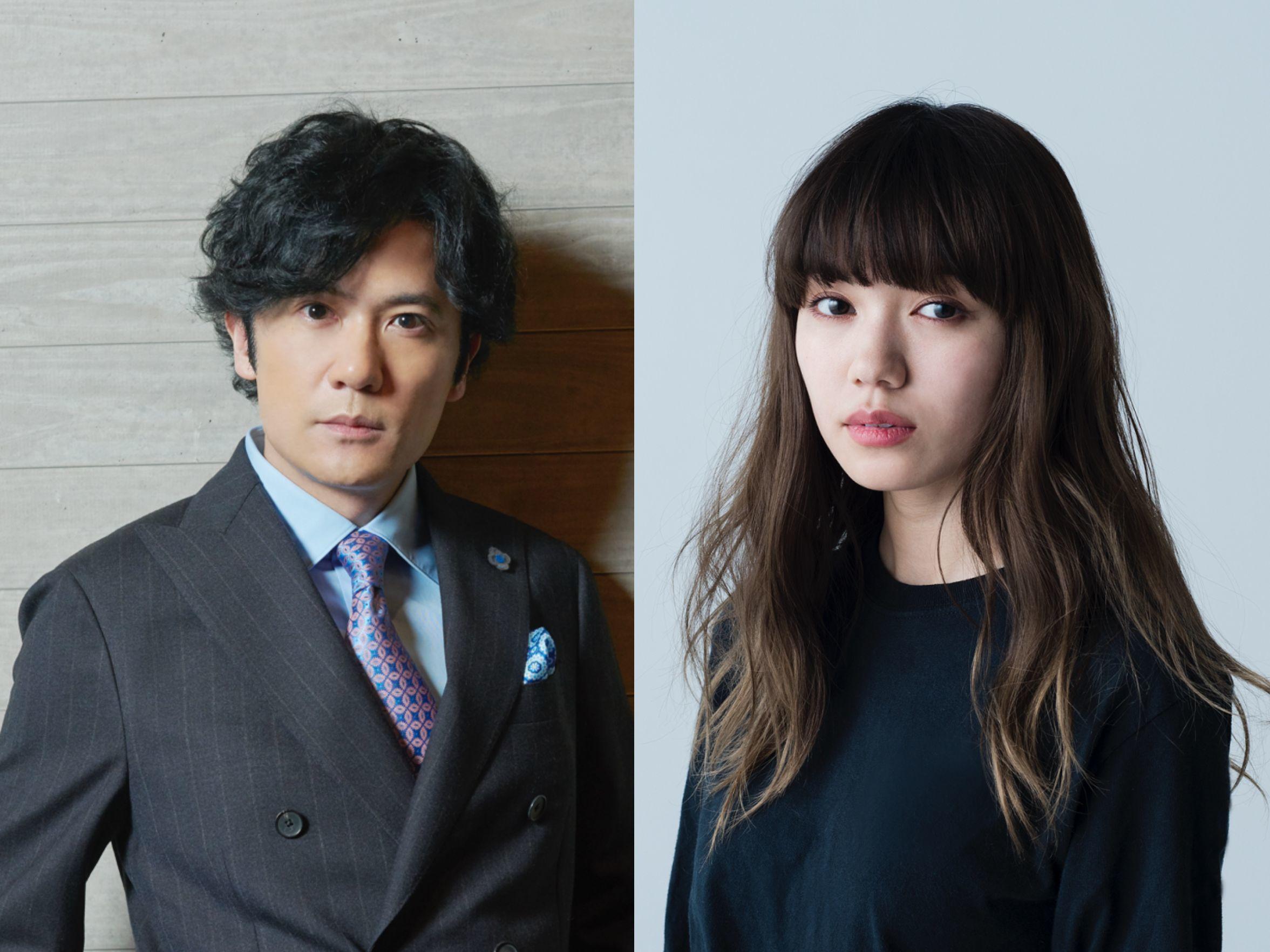 左から、稲垣吾郎、二階堂ふみ