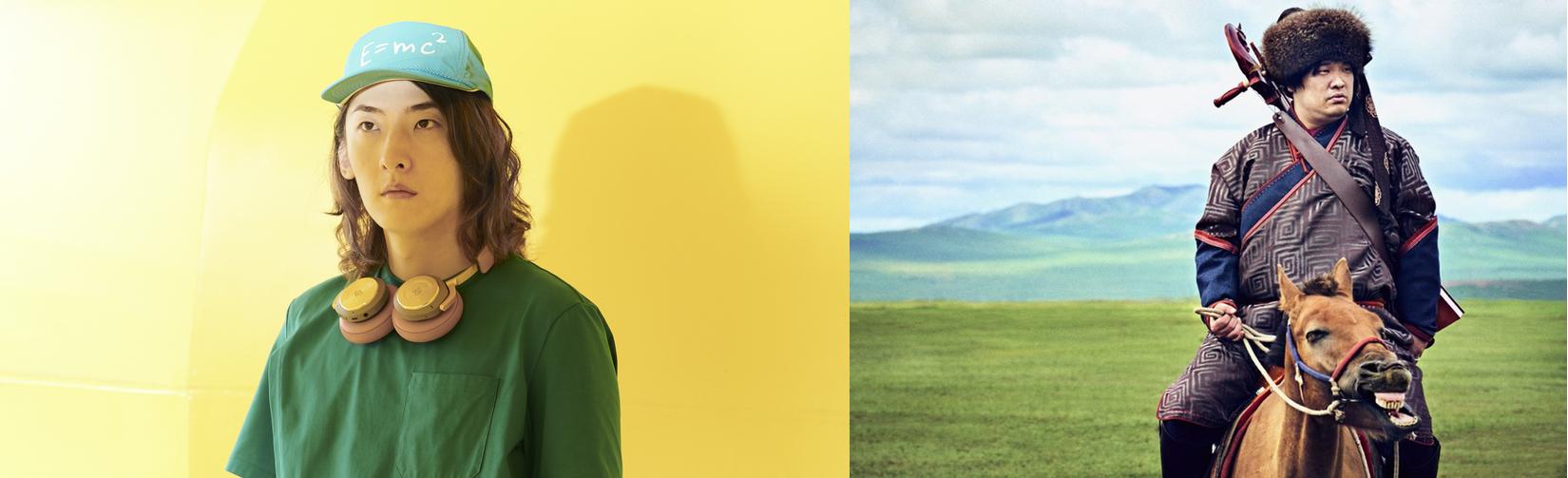 (左)ビッケブランカ (右)岡崎体育