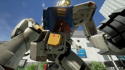 実物大ガンダムの手にしがみつく大迫力のVRアクティビティ 大阪『GUNDAM SQUARE』に急げ