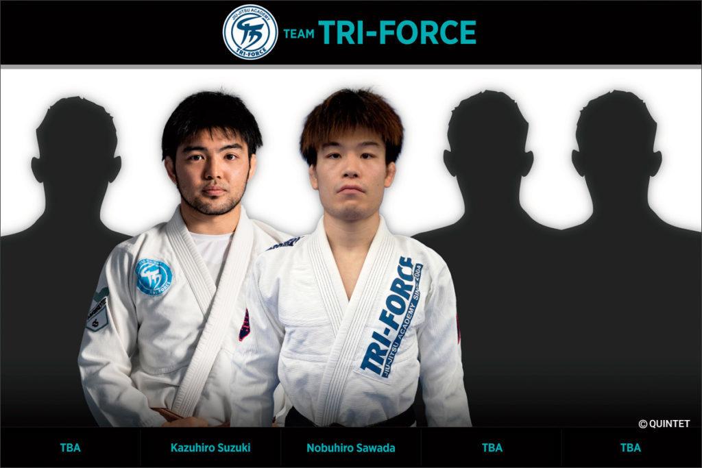 トライフォース柔術アカデミー所属の選手によるTEAM TRI-FORCE
