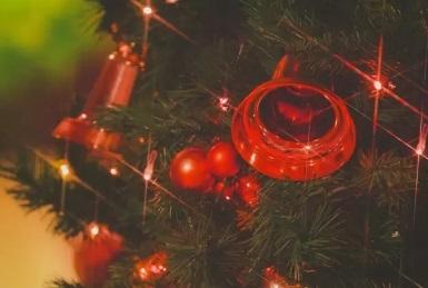 クリスマスツリーに飾り付けをすると、抽選でプレゼントがもらえる