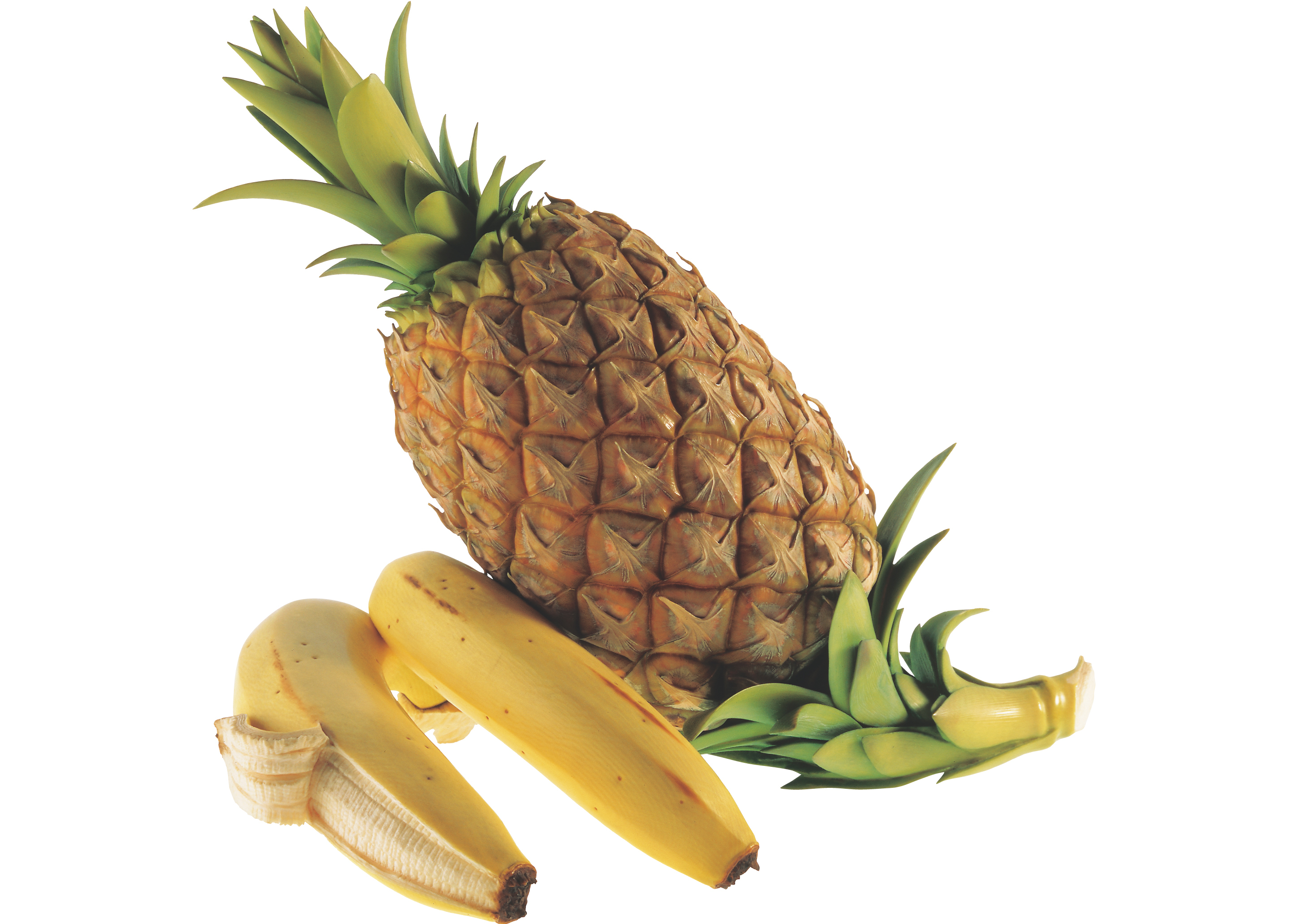 【牙彫】安藤緑山《パイナップル、バナナ》清水三年坂美術館蔵