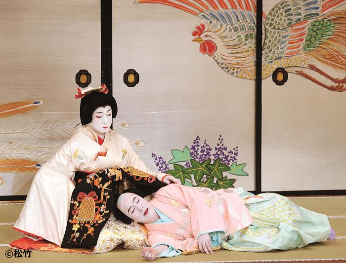 『鰯賣戀曳網(いわしうりこいのひきあみ)』(左から)坂東玉三郎 十八世中村勘三郎