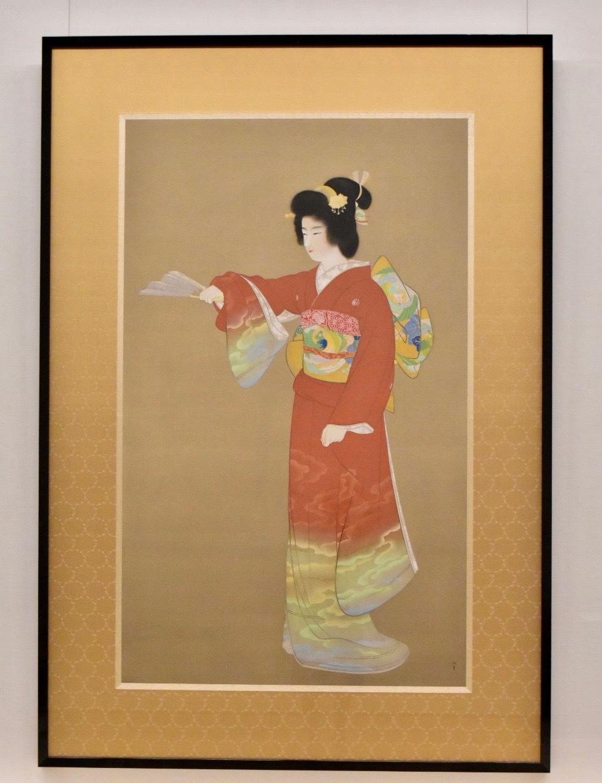 上村松園 《序の舞》(重要文化財) 昭和11年 東京藝術大学蔵