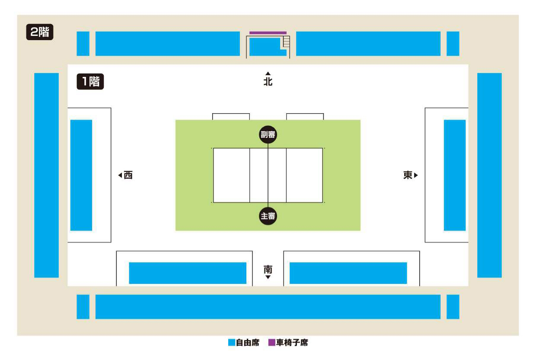 船橋アリーナの座席図