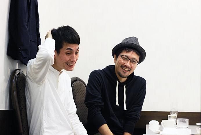 (左から)矢部太郎、田村孝裕