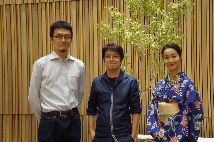 (左から)福地健太郎、奥秀太郎、花柳まり草