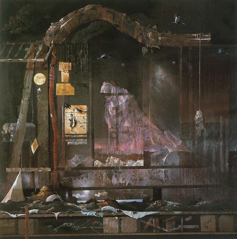 麻田浩《庵(ラ・タンタション)》1991-93年 油彩・キャンバス 京都国立近代美術館蔵