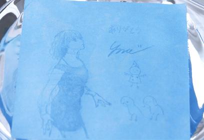 米津玄師、「Pale Blue」ギミックカードの全貌が明らかに 本人描き下ろしイラスト&メッセージが水で浮き出る仕様