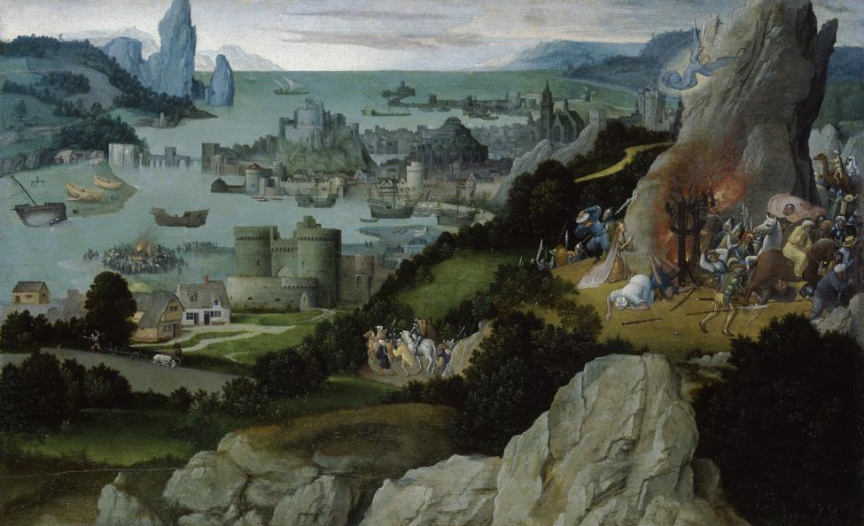 ヨアヒム・パティニール 《聖カタリナの車輪の奇跡》 1515 年以前 油彩・板