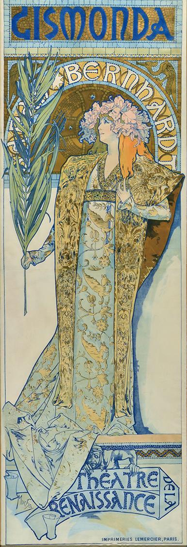 ポスター「ジスモンダ」1894年/リトグラフ