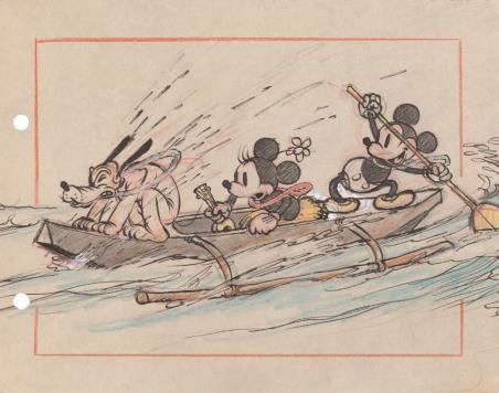 《ミッキーのハワイ旅行》より 1937 年 ©Disney Enterprises, Inc.
