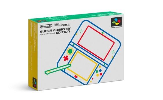 パッケージのデザインもスーパーファミコンのデザインを模した物になっている。 「Newニンテンドー3DS LL スーパーファミコン エディション」紹介ページより引用
