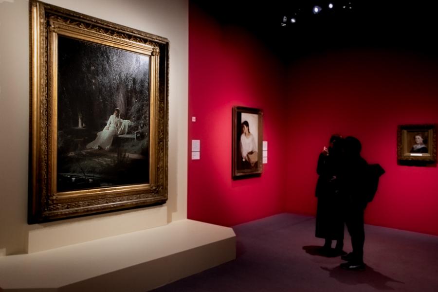 イワン・クラムスコイ《月明かりの夜》1880年 油彩・キャンバス