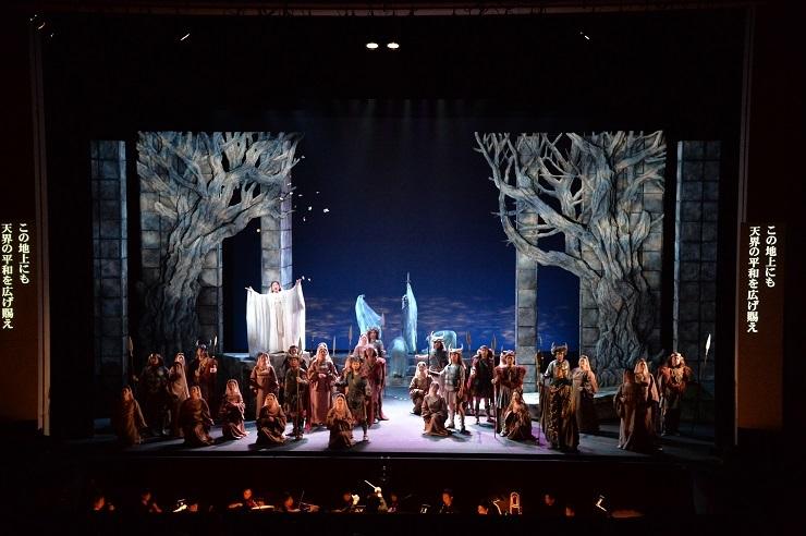 ベルカントものへの挑戦機会を頂き感謝している!と語る、ベッリーニ歌劇「ノルマ」(2015.9.19 川西みつなかホール) (C)みつなかオペラ実行委員会