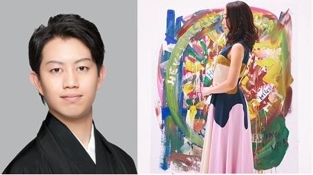 (左から)中村壱太郎、Rie fu