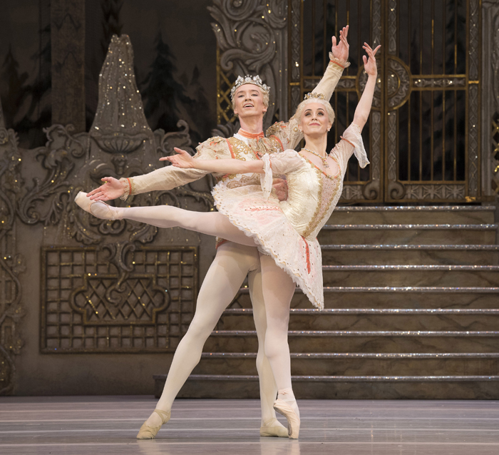 The Nutcracker. Vadim Mutagirov as The Prince and Marianela Nuñez as The Sugar Plum Fairy.