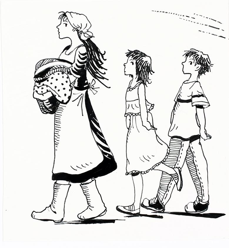 佐竹美保画『魔女の宅急便 その6』挿絵原画 2009 年10月 福音館書店
