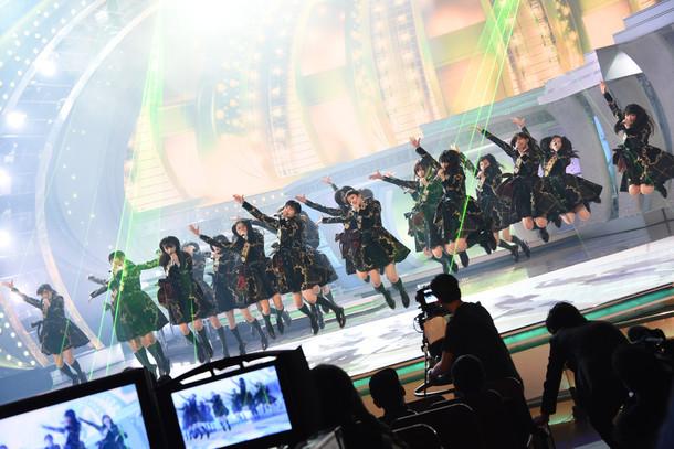 「第67回NHK紅白歌合戦」リハーサル時の欅坂46。