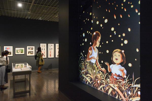 第3章『火垂るの墓』の展示風景 (C)野坂昭如/新潮社、1988