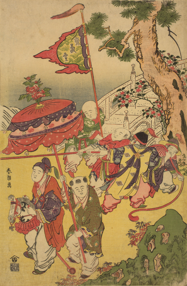 葛飾北斎「唐子遊び」 寛政2年(1790)頃