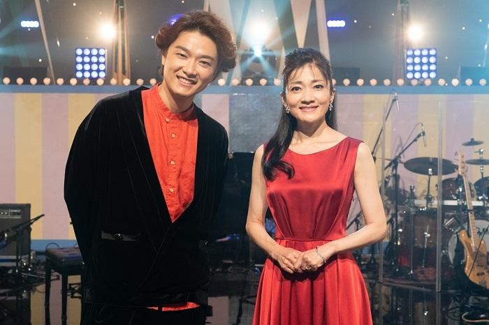 (左から)井上芳雄、島田歌穂
