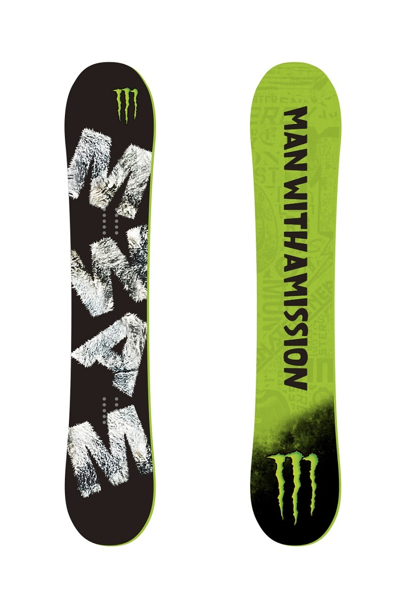MAN WITH A MISSION / YES. / MONSTER ENERGY サイン入りコラボスノーボード(イメージ)
