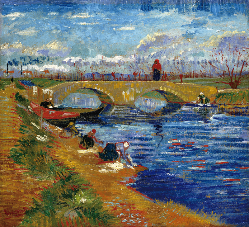 フィンセント・ファン・ゴッホ 《ヴィゲラ運河にかかるグレーズ橋》1888年 ポーラ美術館蔵