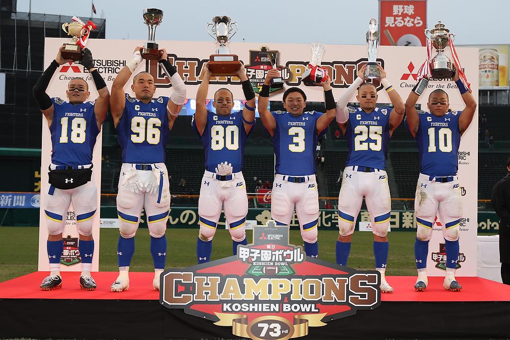 関西学院大学は2019年1月3日(木)に行われる『アメリカンフットボール日本選手権 プルデンシャル生命杯 第72回ライスボウル』に出場する