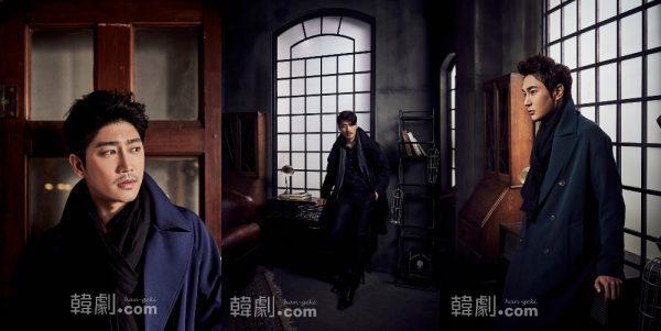 (写真左から)アンダーソン刑事役のパク・ソンファン、キム・ジュンヒョン、チョ・ソンユン
