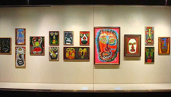 自画像から出発し、生涯に500点は描いたとされる正義の代表作《顔》シリーズの一部