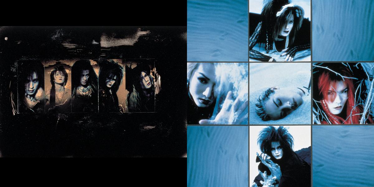 LUNA SEA(L⇒R:『IMAGE』1992年、『EDEN』1993年リリース時アーティスト写真)