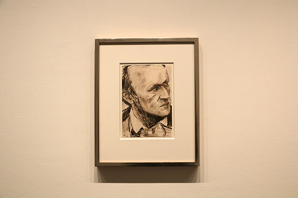 """Richard Wagner"" 紙に色鉛筆、パステル 21.9 x 15.2 cm 2010 Private Collection, New York"