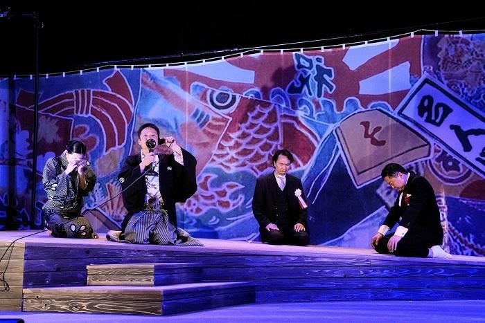 (左から) 江口のりこ、福田転球、⾧塚圭史、大堀こういち 撮影:細野晋司
