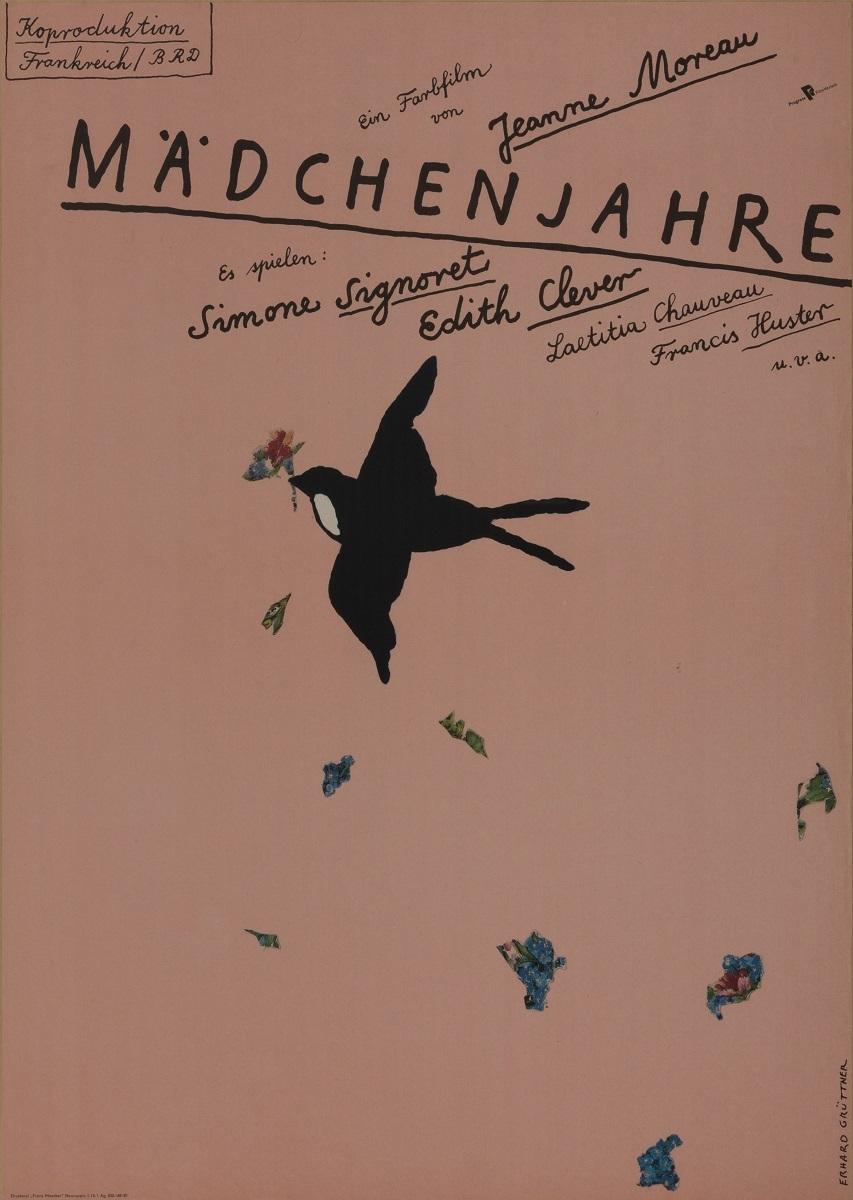 『ジャンヌ・モローの思春期』(1979 年/フランス=西ドイツ/ジャンヌ・モロー監督) ポスター:エアハルト・グリュットナー(1981 年) フィルムセンター所蔵