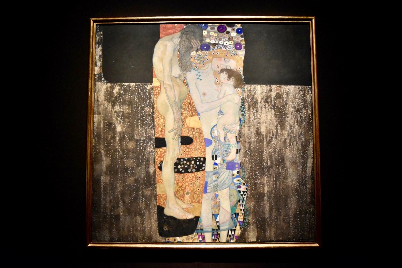 グスタフ・クリムト 《女の三世代》 1905年 ローマ国立近代美術館蔵