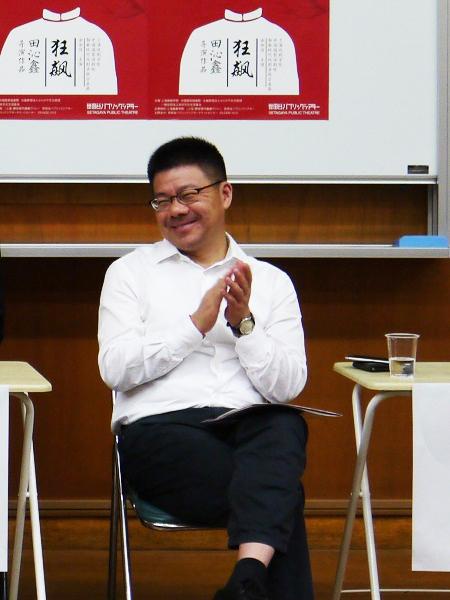 笑顔を見せる黄昌勇 (撮影:久田絢子)