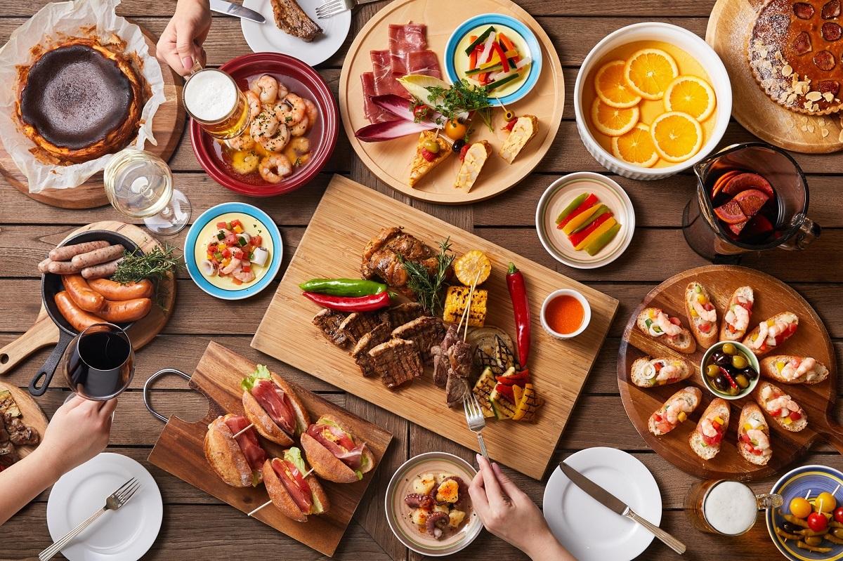 ベイサイドビアガーデン「BBQ エスパーニャ!」イメージ テーマ「スペイン」に沿った料理が食べ放題