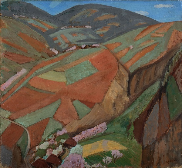 藤島武二 〔耕到天〕1938年 油彩、カンヴァス 大原美術館