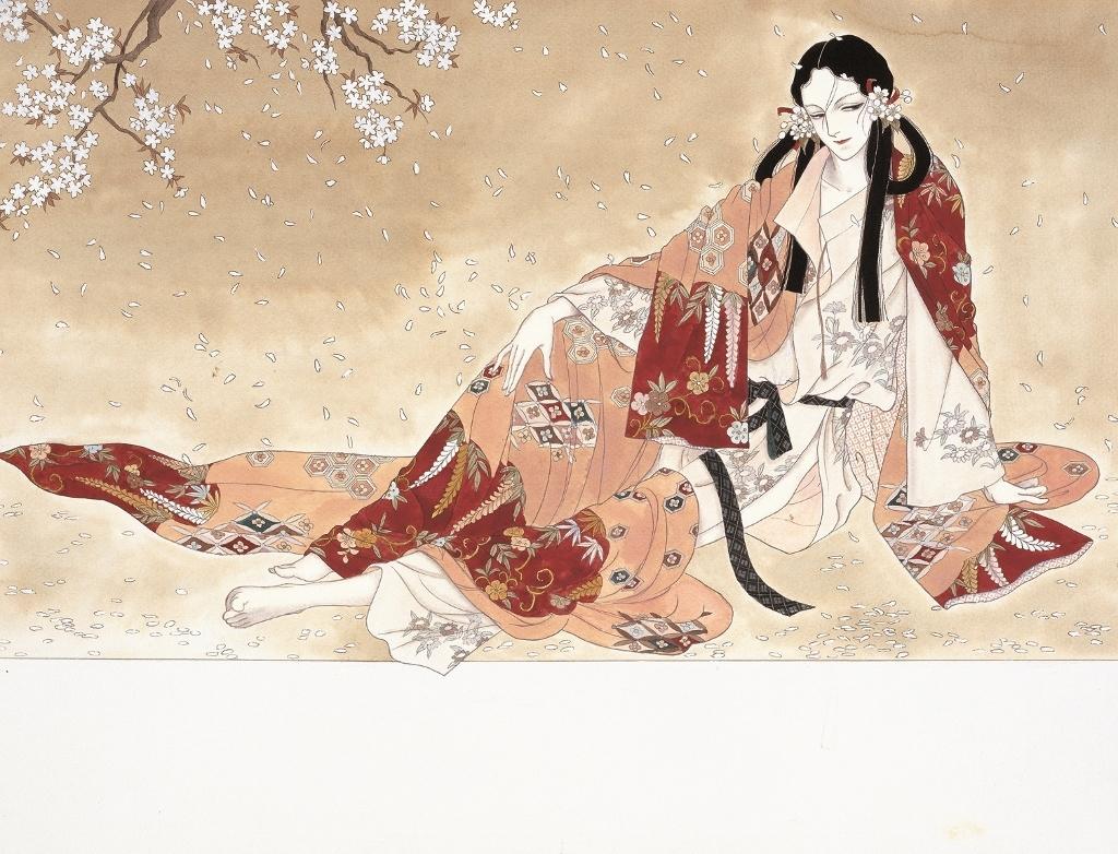 「日出処の天子」 扉原画 【展示期間/中期】©山岸凉子