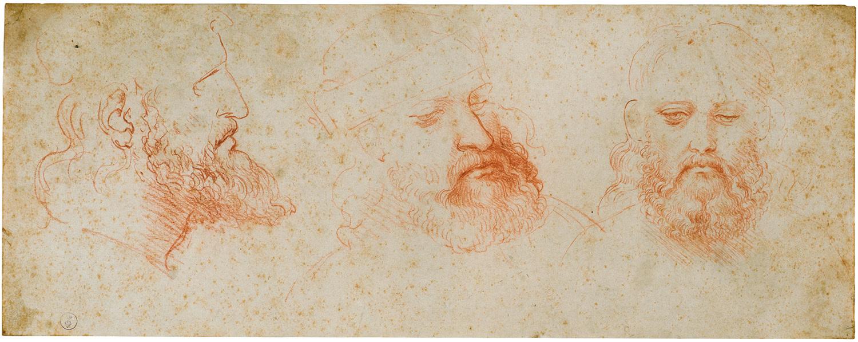 レオナルド・ダ・ヴィンチ 《髭のある男性頭部(チェーザレ・ボルジャ?)》 1502年頃 トリノ王立図書館 ©Torino, Biblioteca Reale