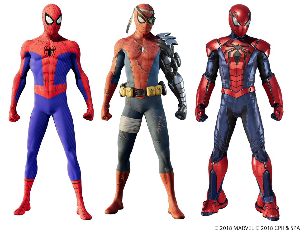 『Marvel's Spider-Man 白銀の系譜』で入手できる3種類のスパイダースーツ