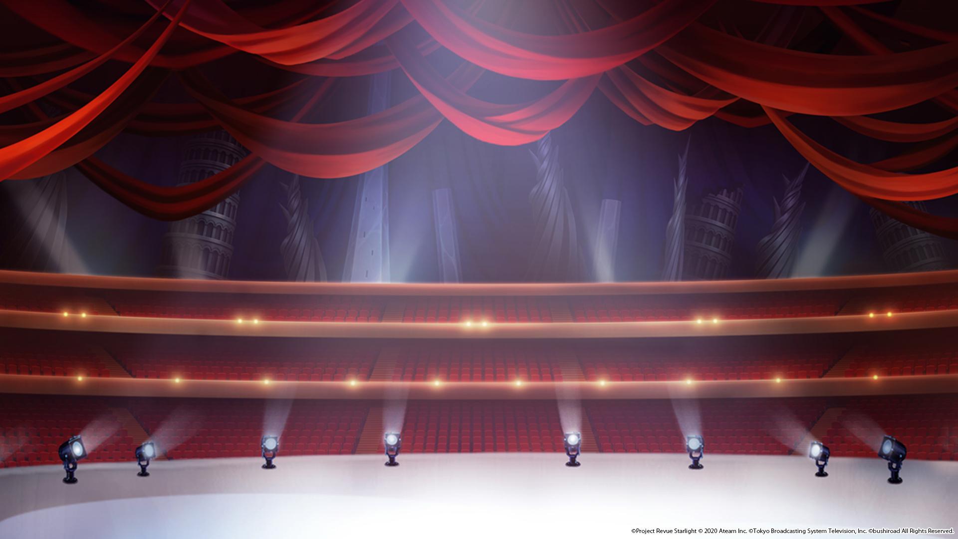 『少女☆歌劇 レヴュースタァライト -Re LIVE-』ビデオ会議用バーチャル背景画像