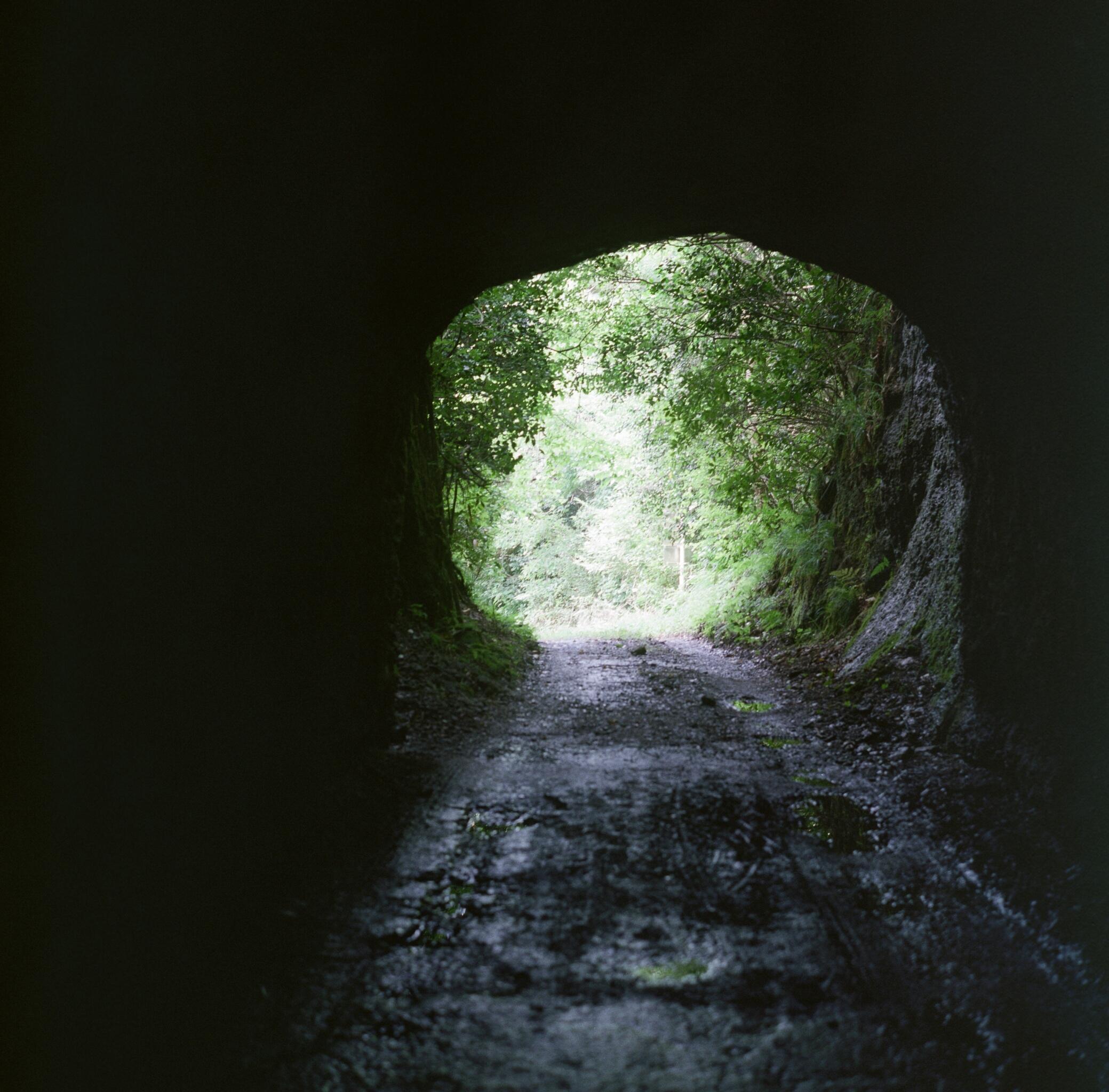 旧鮫ヶ浦漁港へ続くトンネル(大鮫隧道) 撮影:森賢一