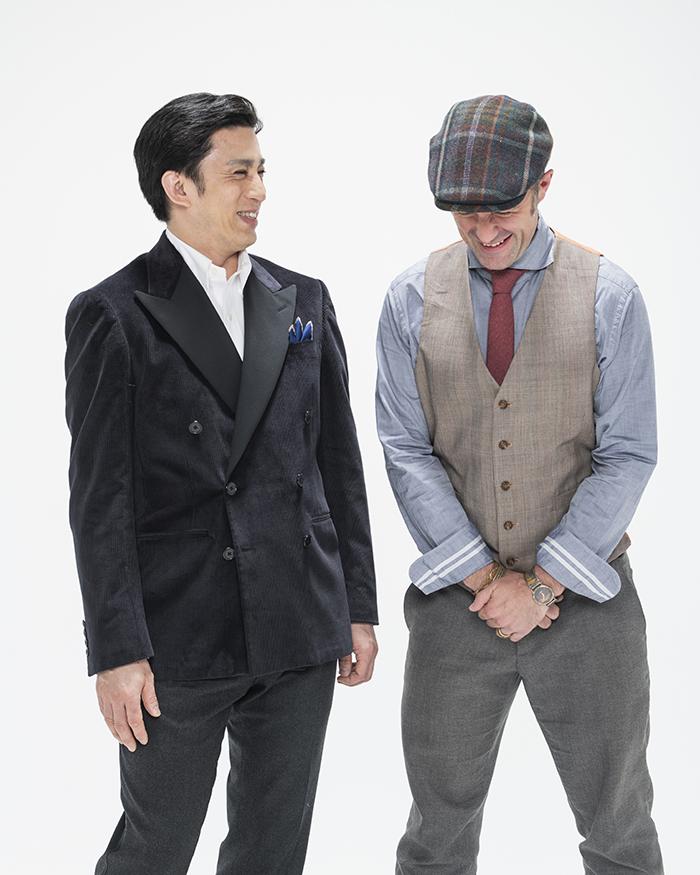 (左から)松本幸四郎、アダム・エドッシー