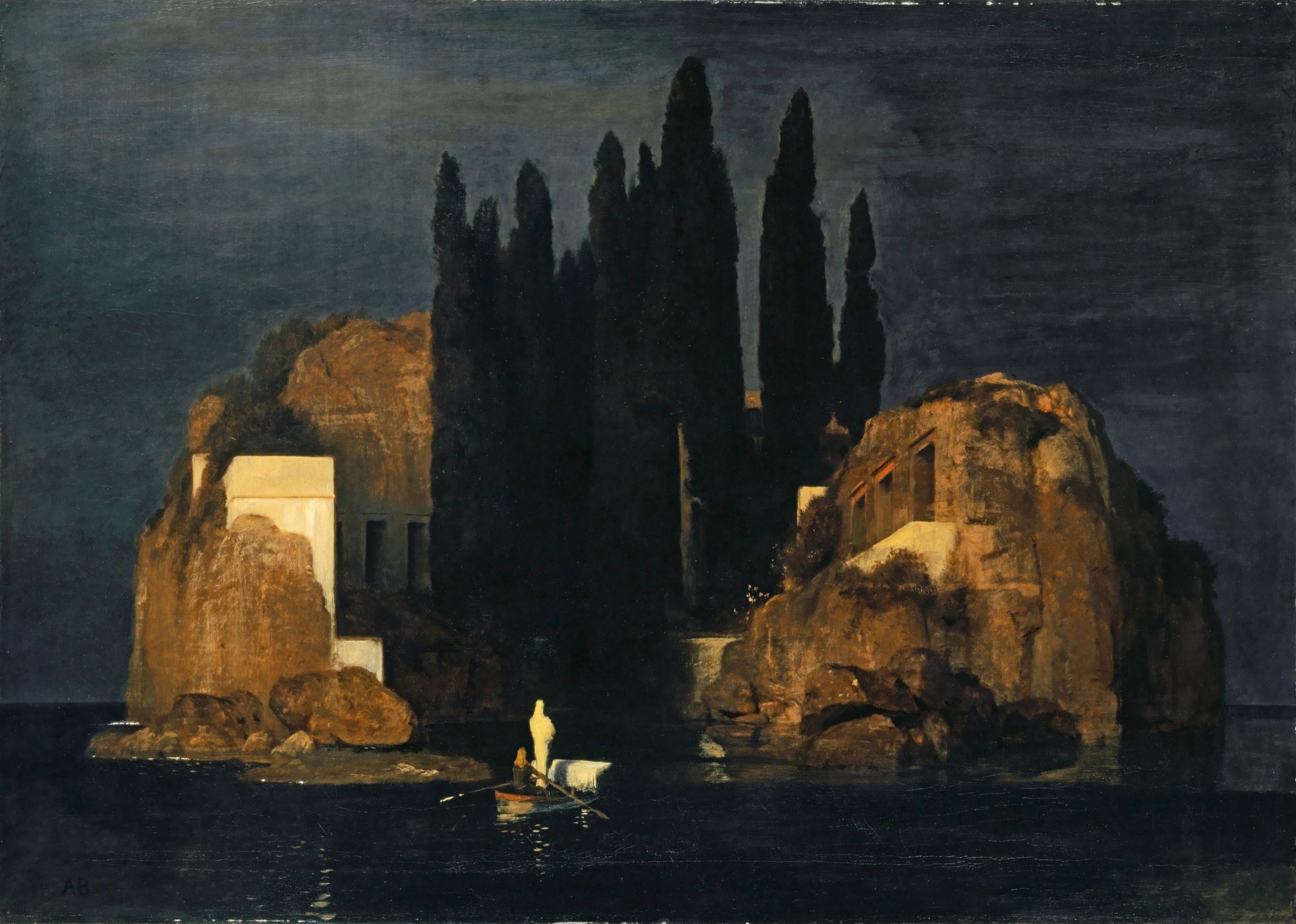 アルノルト・ベックリーン《死の島》1880年 カンバスに油彩 111×155㎝ バーゼル美術館