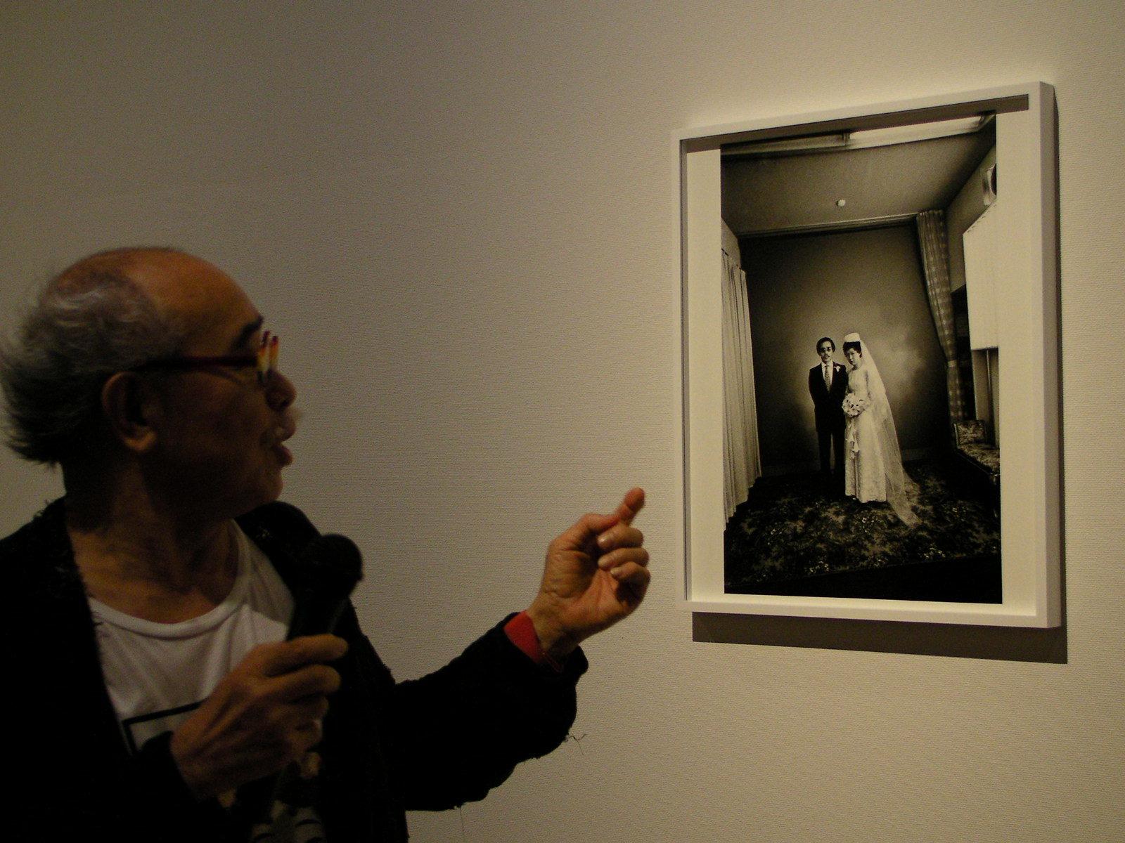 結婚式の写真は私家版写真集『センチメンタルな旅』の表紙に使われた。