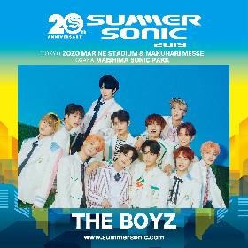 THE BOYZ 『SUMMER SONIC 2019』東京・大阪両会場に出演決定