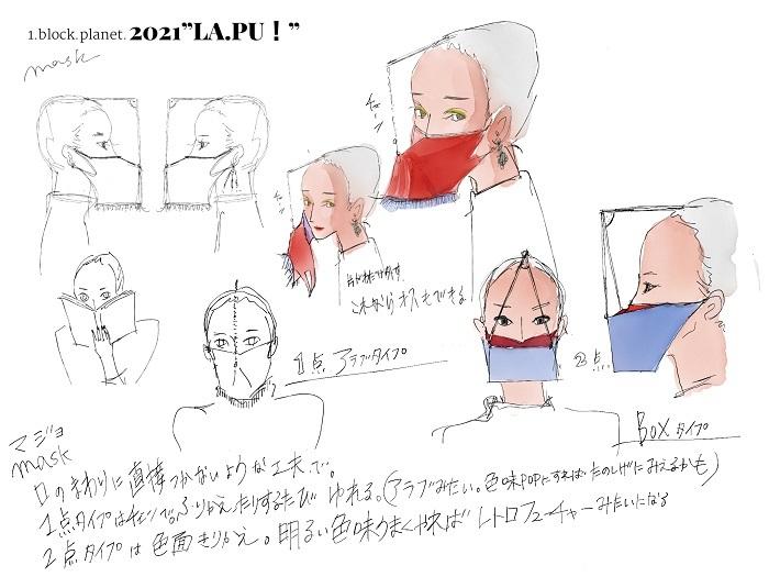 『LAPU!』衣装のイメージ画。